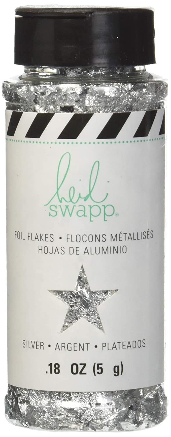 Heidi Swapp 314131 Foil Flakes, Silver American Crafts