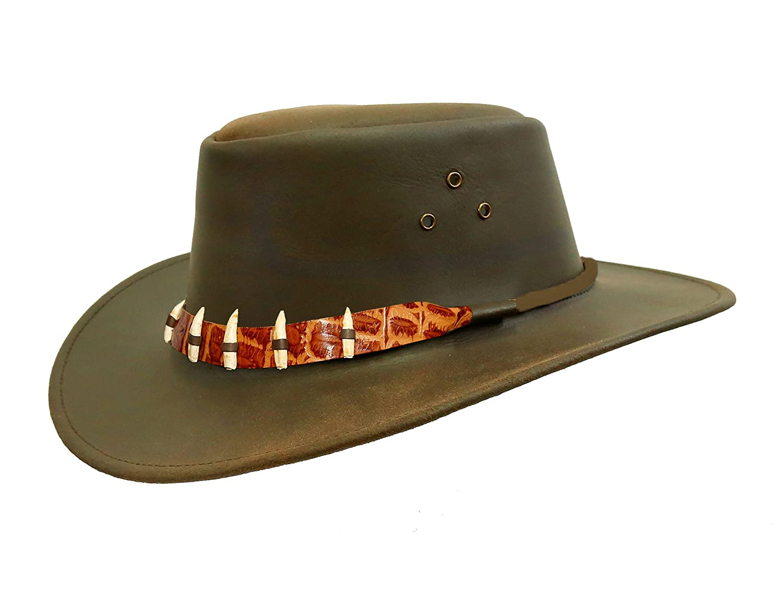 KakaduTraders Australia , The Croc Leather Hat 2nd Choice KTA 3H15