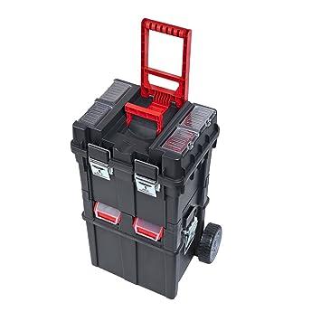 Caja de herramientas con ruedas de plástico para uso general: Amazon.es: Bricolaje y herramientas