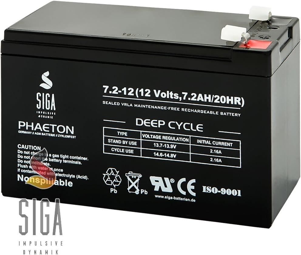 multipower MP7,2-12 12V 7,2Ah Bleiakku AGM//VRLA mit VdS StandBy AKKU USV UPS