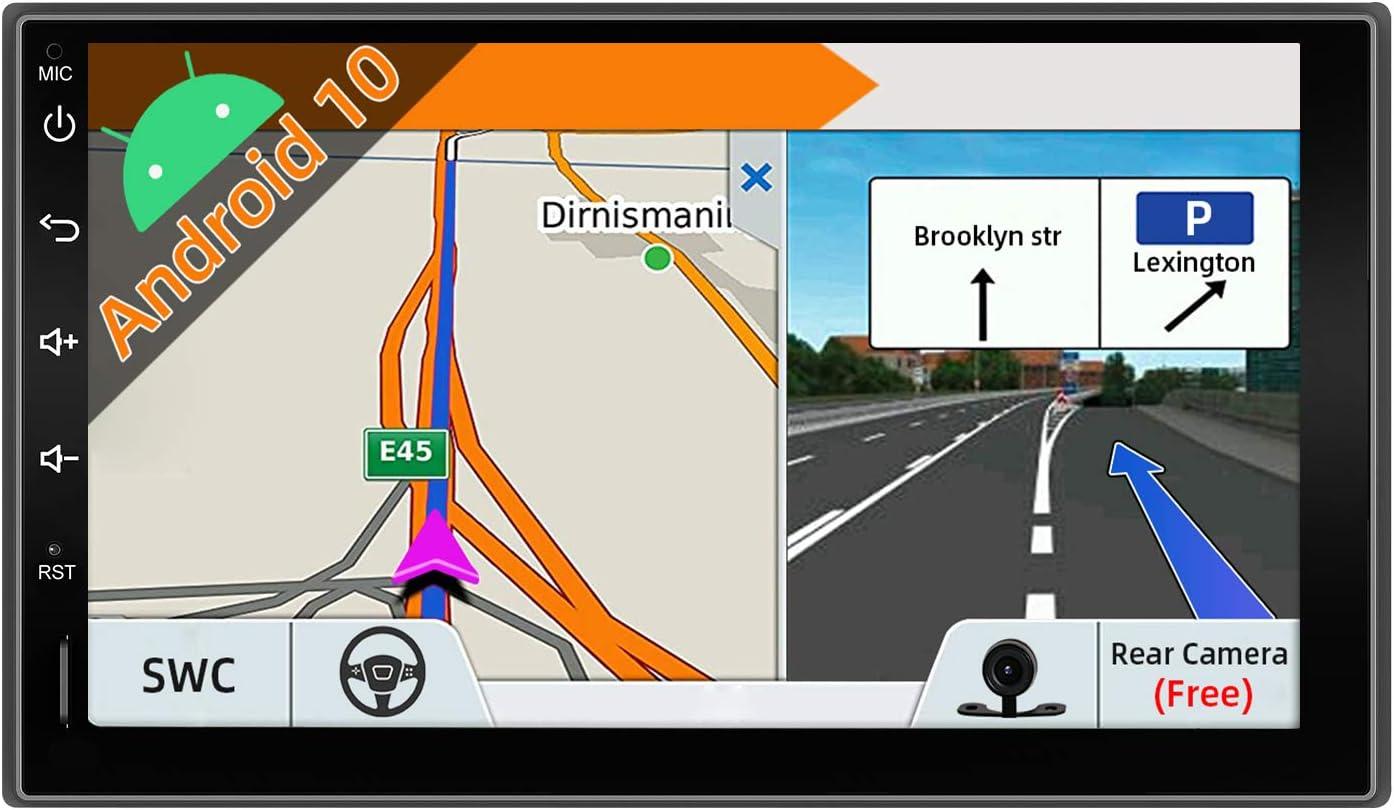 JOYX Android 10.0 Universal Autoradio GPS Navegación Estéreo Entretenimiento Multimedia Radio| LIBRE Cámara trasera |7 Pulgadas | 2G+32G | Apoyo DAB+ split screen Google WLAN Bluetooth Mirror-Link 4G