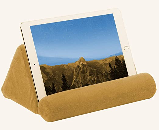 Desk Universal Phone and Tablet Holder for Bed Can Be Used Also on Floor iPad Tablet Pillow Holder for Lap Couch Red Color Pillow for Tablet or iPad Chair