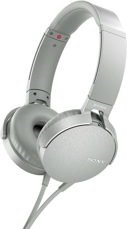 Sony MDR - XB550AP - Auriculares de diadema Extra Bass (micrófono integrado compatible con Smartphones, diadema metálica adaptable), blanco