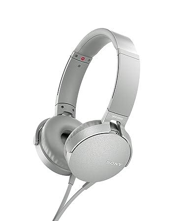 Sony MDR - XB550AP - Auriculares de diadema Extra Bass (micrófono integrado compatible con Smartphones, diadema metálica adaptable), blanco: Sony: ...