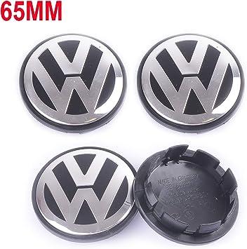 4 Center Wheel Caps for Volkswagen 65MM 3B7601171 Blue /& Chrome 3B7601171XRW