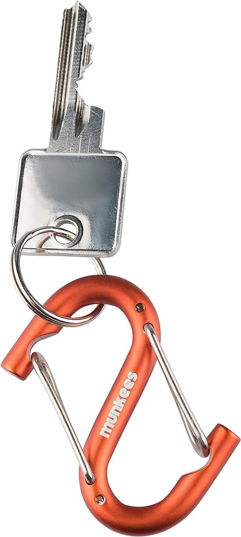 Munkees da Appendere e Appendere Portachiavi a Forma di S con moschettone in Filo Metallico