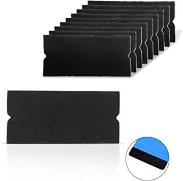 Vinyl Rubber Roller Suede Felt Squeegee Car Wrap Application Sticky Clean Tools