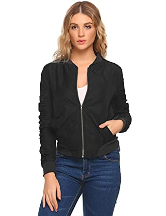 240047ac46bcf Image Unavailable. Image not available for. Color  dozenla Bomber Jacket  Women Plus Size ...