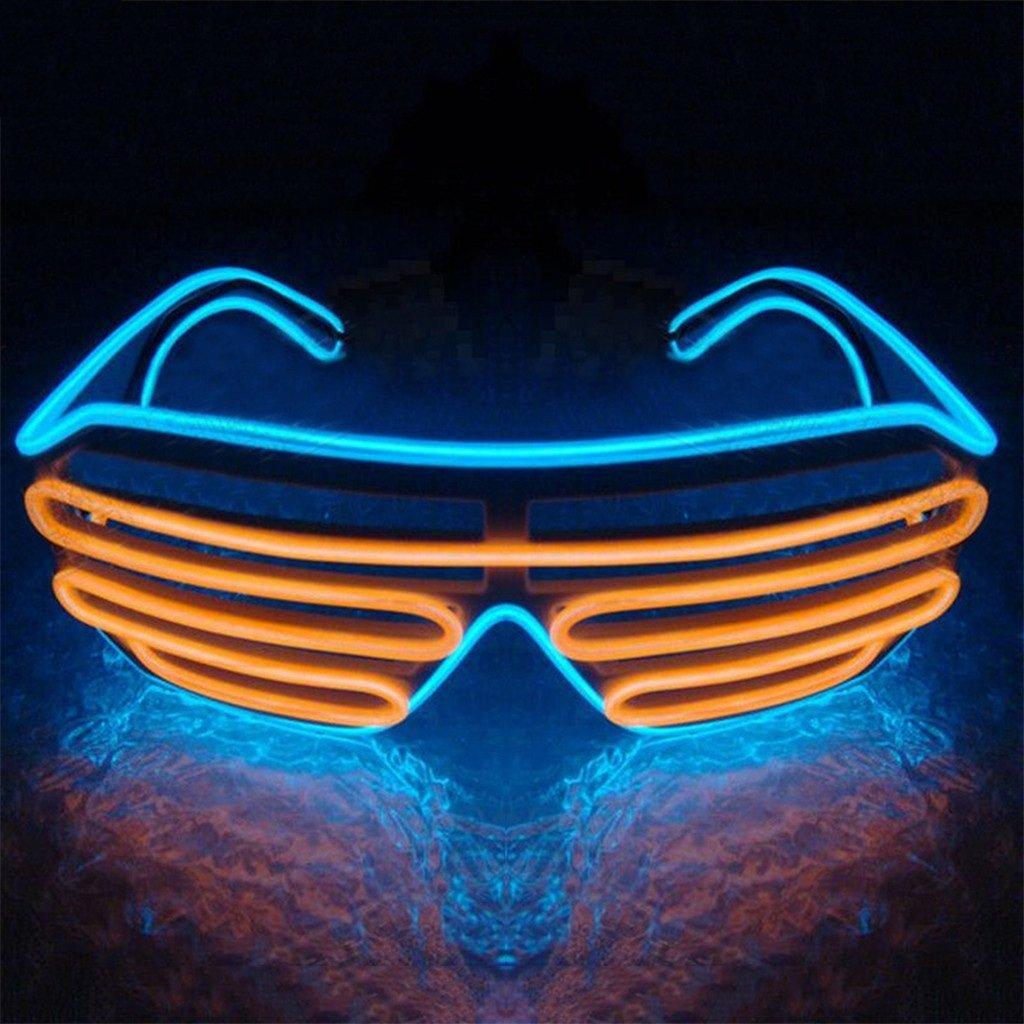 Taglia unica YIPINCO7285/light-up occhio occhiali doppio colore LED el lampeggiante occhiali per Halloween bar party 15#