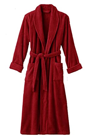 2a41fba7b2 Image Unavailable. Image not available for. Color  Mens and Womens XXXL Red Hooded  Terry Bathrobe. Full Length 54 Inches ...