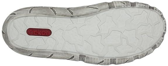 Rieker L0310-34 - Zapatos con cordones de cuero mujer, color rojo, talla 39: Amazon.es: Zapatos y complementos