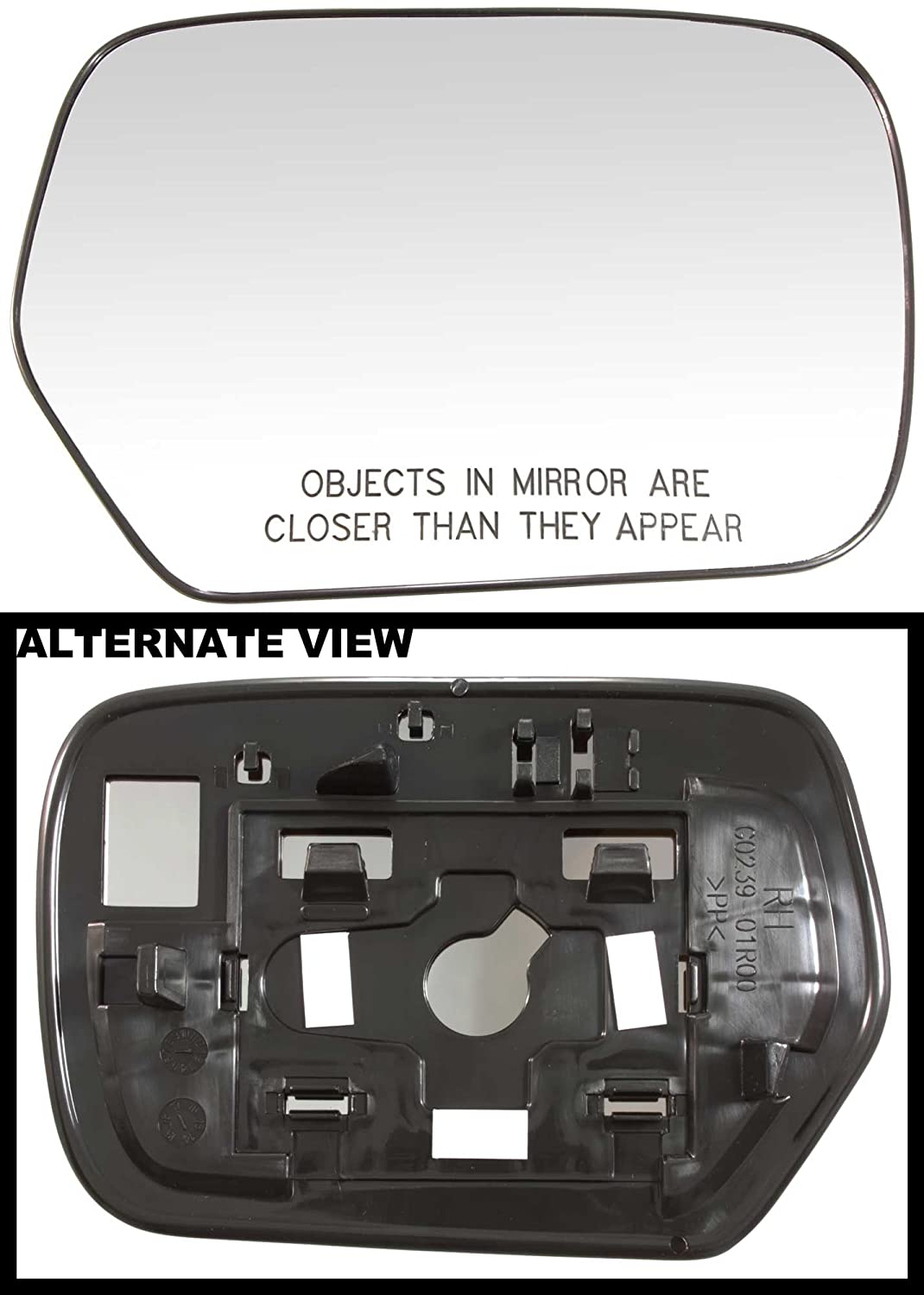 Replaces OEM MR991358 APDTY 67870 Side View Mirror Replacement Glass Fits Right Passenger-Side 2003-2006 Mitsubishi Outlander Models Without Heat