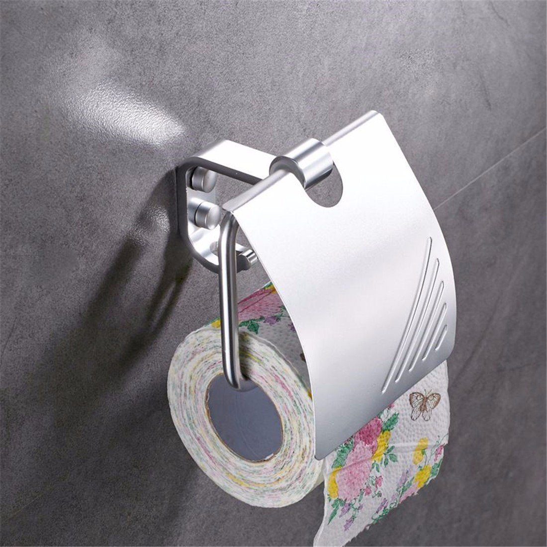FACAIG The aluminum works light toilet paper holder bathroom accessories set by FACAIG (Image #2)