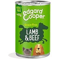 Edgard & Cooper Comida humeda Perros Adultos sin Cereales, Natural con Cordero y Ternera. Alimentación balanceada y Sana…