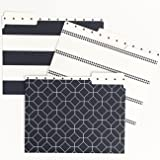 Set of 12 Designer File Folders with a smooth matte finish, 9.5 x 11.75 inches by Kahootie Co (NAVY ASSORTED)