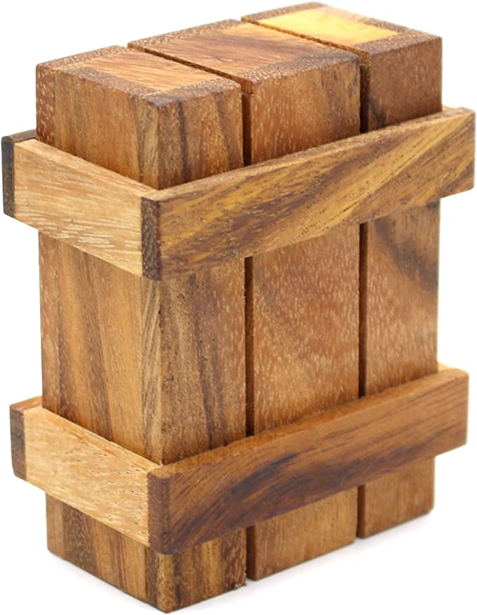 Wooden Bamboo Puzzle Box Money Holder Gift Box Brainteaser Bits and Pieces