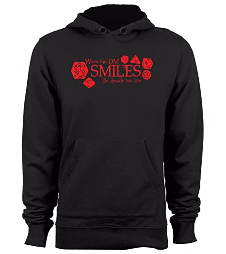 5030cf73 Dungeons and Dragons Hoodie Funny When The DM Smiles Hoody Graphic dice  Hoodies Tabletop, Small