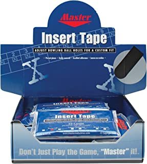 product image for Master Industries Pre-Cut Bowlers Insert Tape (12 Count), Black, 3/4-Inch