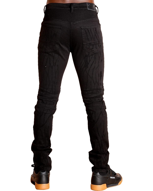 Black,Black,32 Ankor East Mens Knee RIP Jeans