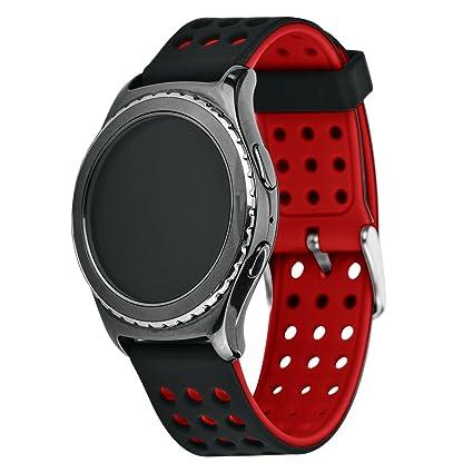 Greatfine 20MM Reemplazo liberación rápida Correa de reloj silicona hebilla pulsera para Samsung Gear S2 Classic SM-R732 / SM-R7320, Motorola Moto 360 ...