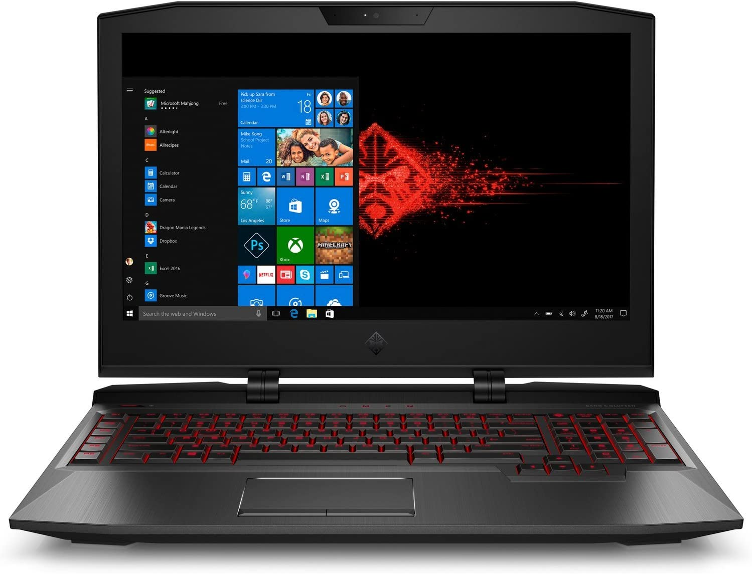 Amazon Com Hp 5275669 Omen X 17 Ap092ms Gaming Laptop Intel I7 7820hk Ci7 2 9 Ghz 1 Tb Nvidia Geforcegtx1080 8gb Windows 10 Home 64 Bit Black 17 3 Fhd Refurbished Computers Accessories