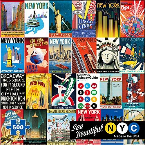 Jigsaw Piece 500 City (Re-Marks New York)