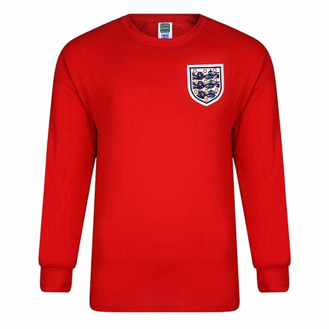 England FA - Camiseta Retro Oficial del Equipo de Inglaterra EN el Mundial de 1966 con