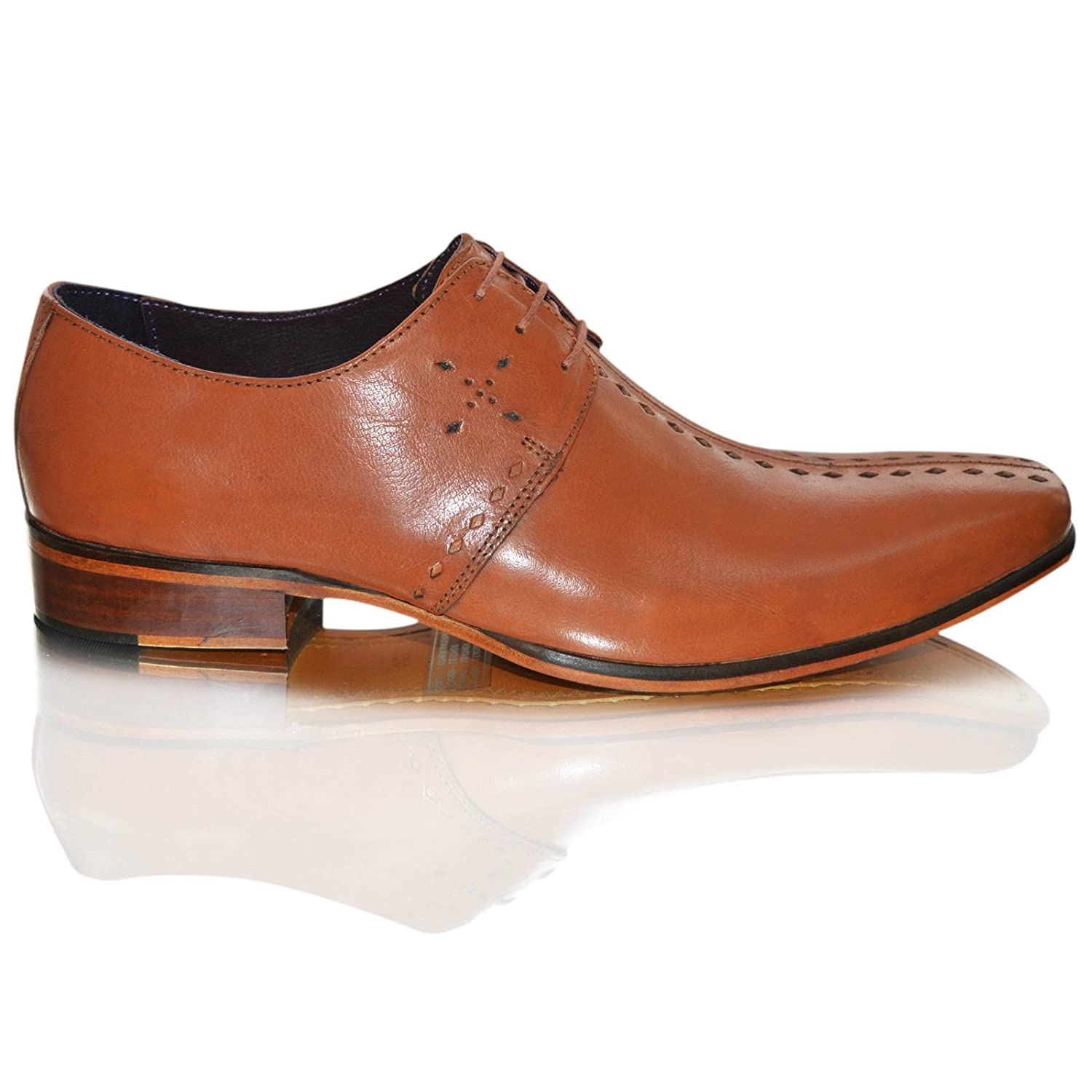 c459dea38be GUCINARI Mens 100%Leather Italian Smart Pointed Toe Slip On Formal Shoes  Size (UK 11