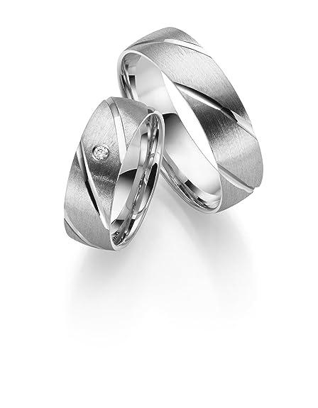 8a012547 alianzas de plata 925 en par de precio incluye 1 piedra: Amazon.es ...