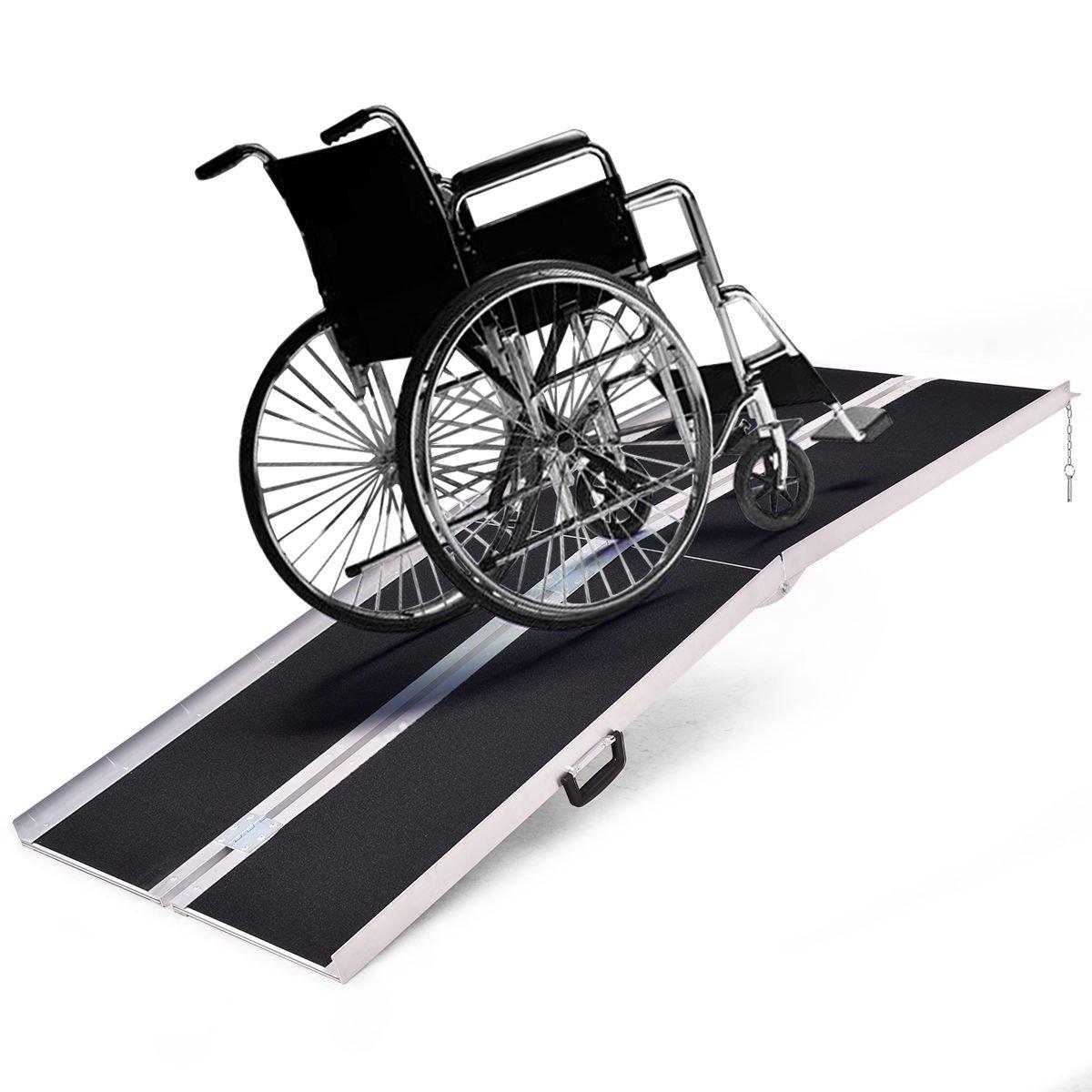 Amazon.com: Goplus® - Rampa portátil para silla de ruedas ...