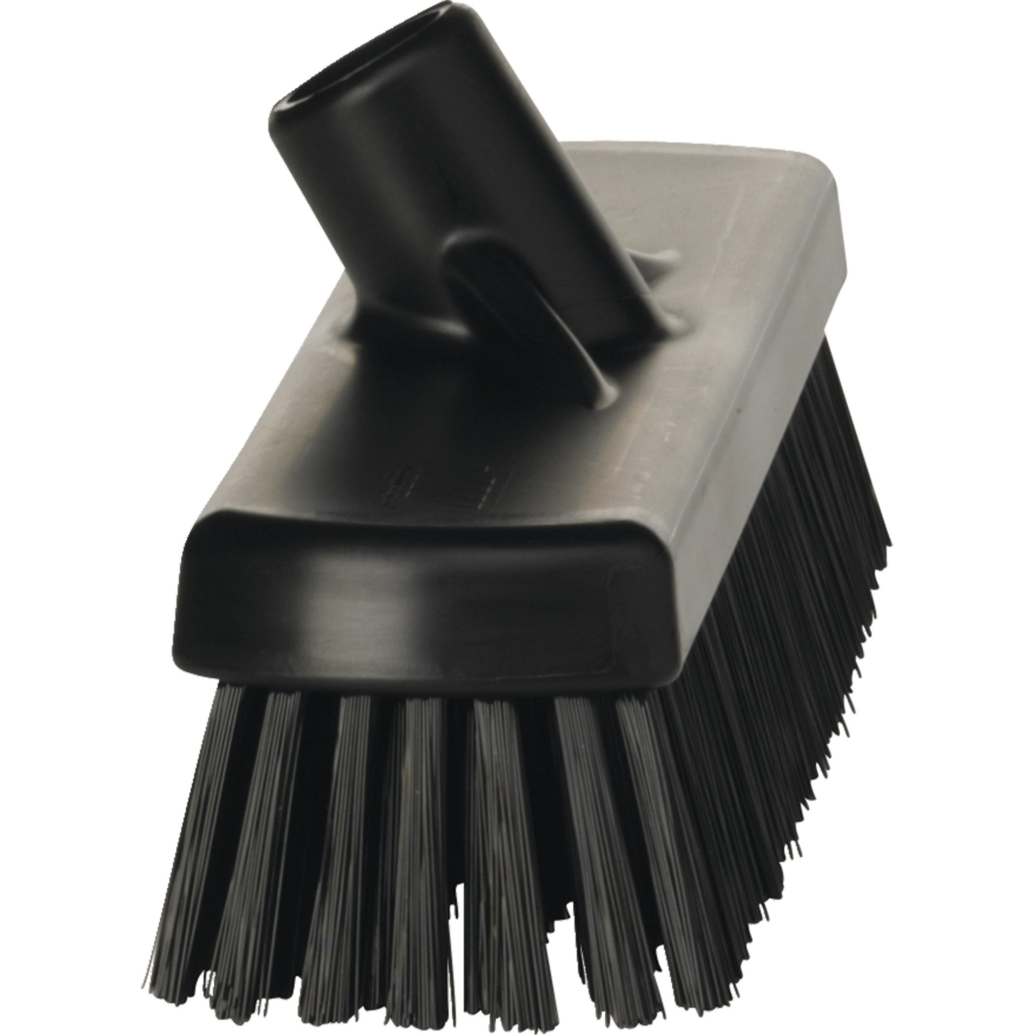 Vikan 70609 Deck Scrub, 11-3/4'' Polyester Bristle, Black