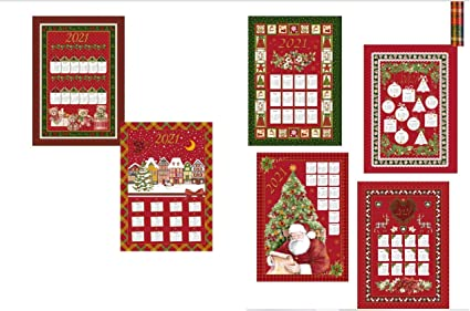 Natale 2021 Calendario.Zambaiti Set 6 Pezzi Strofinaccio Calendario Natale 2021 In Cotone Stampato Amazon It Casa E Cucina