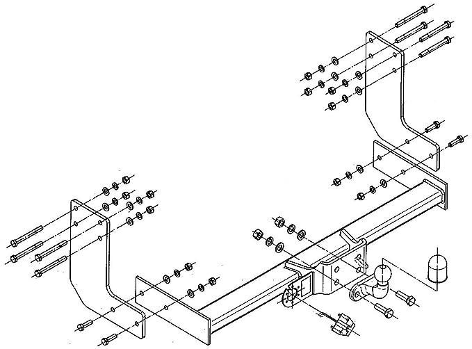 Stone Yard Z1969534 Tow Bar Crafter Panel Van Minibus 35t 3665