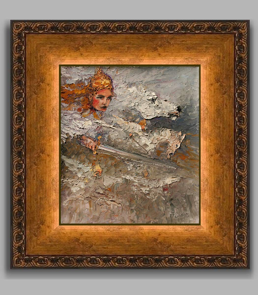 Valkyries the Norse legend by internationally renown painter Andre Dluhos