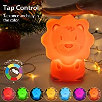 JADENS Silicone LED Color Changing Cute Night Light for Kids (Lion)