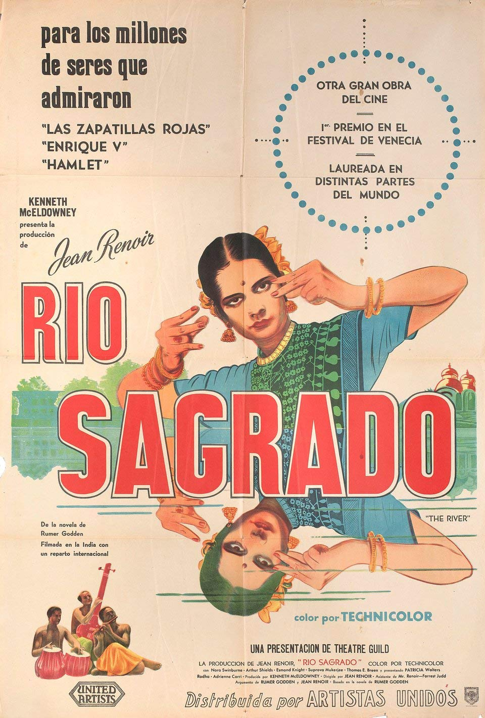 The River 1951 Argentine Poster at Amazons Entertainment Collectibles Store