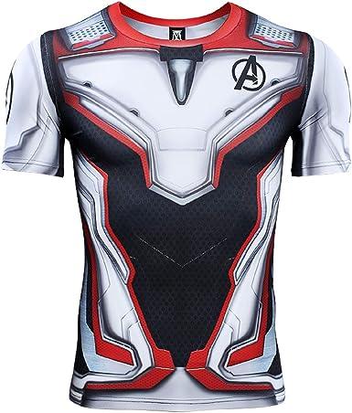 Endgame Quantum War Men's Compression Shirt Short Sleeve 3D Print T Shirt