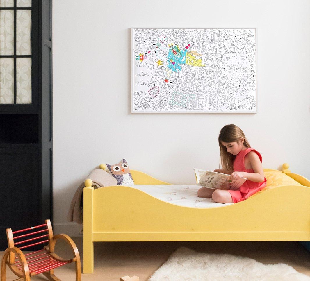 /Poster Gigante di Gioco a Realizzare e da colorare Formato encadrable 70/x 100/cm Omy/