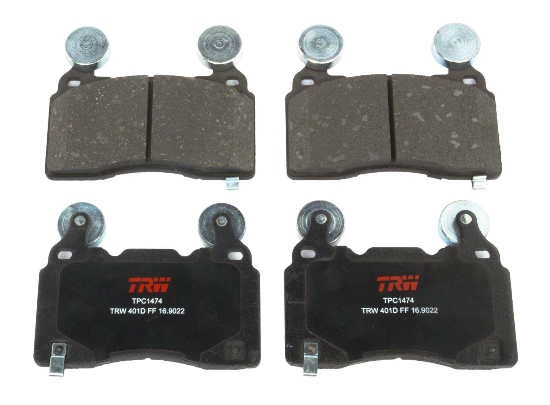 TRW TPC1474 Black Premium Ceramic Rear Disc Brake Pad Set