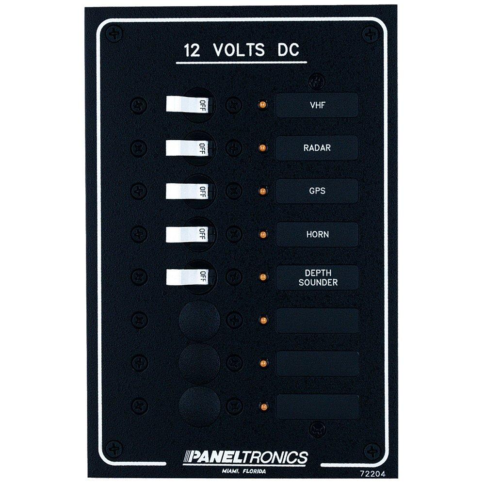 PANELTRONICS Paneltronics Standard DC 8 Position Breaker Panel w/LEDs / 9972204B /