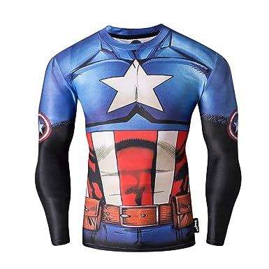 21452f76 Fringoo® Mens Compression Superhero Top Base Layer Gym Long Sleeve Running  Thermal Sweatshirt Workout T