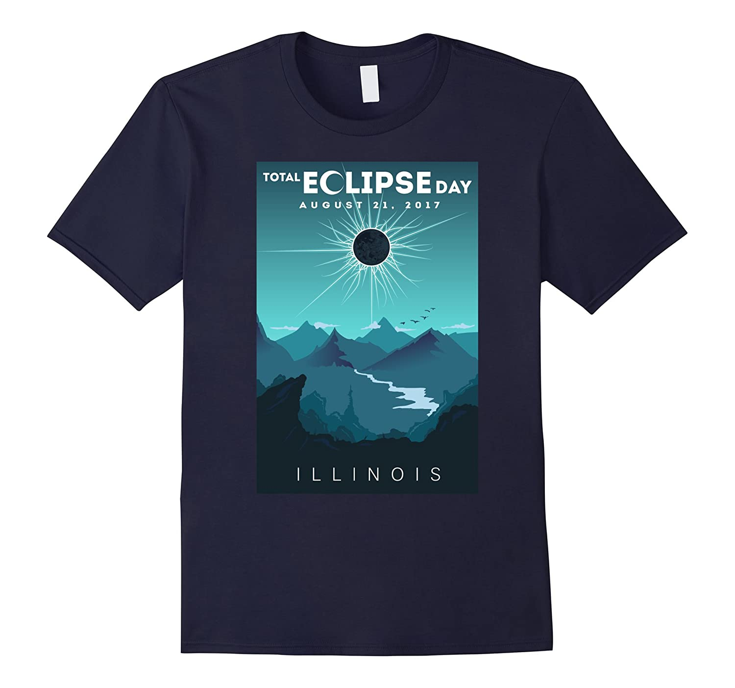 Total Solar Eclipse Illinois August 2017 T Shirt-Art