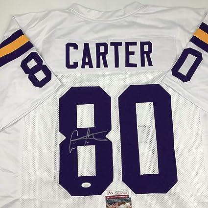 finest selection 42568 cb3b4 Autographed/Signed Cris Carter Minnesota White Football ...