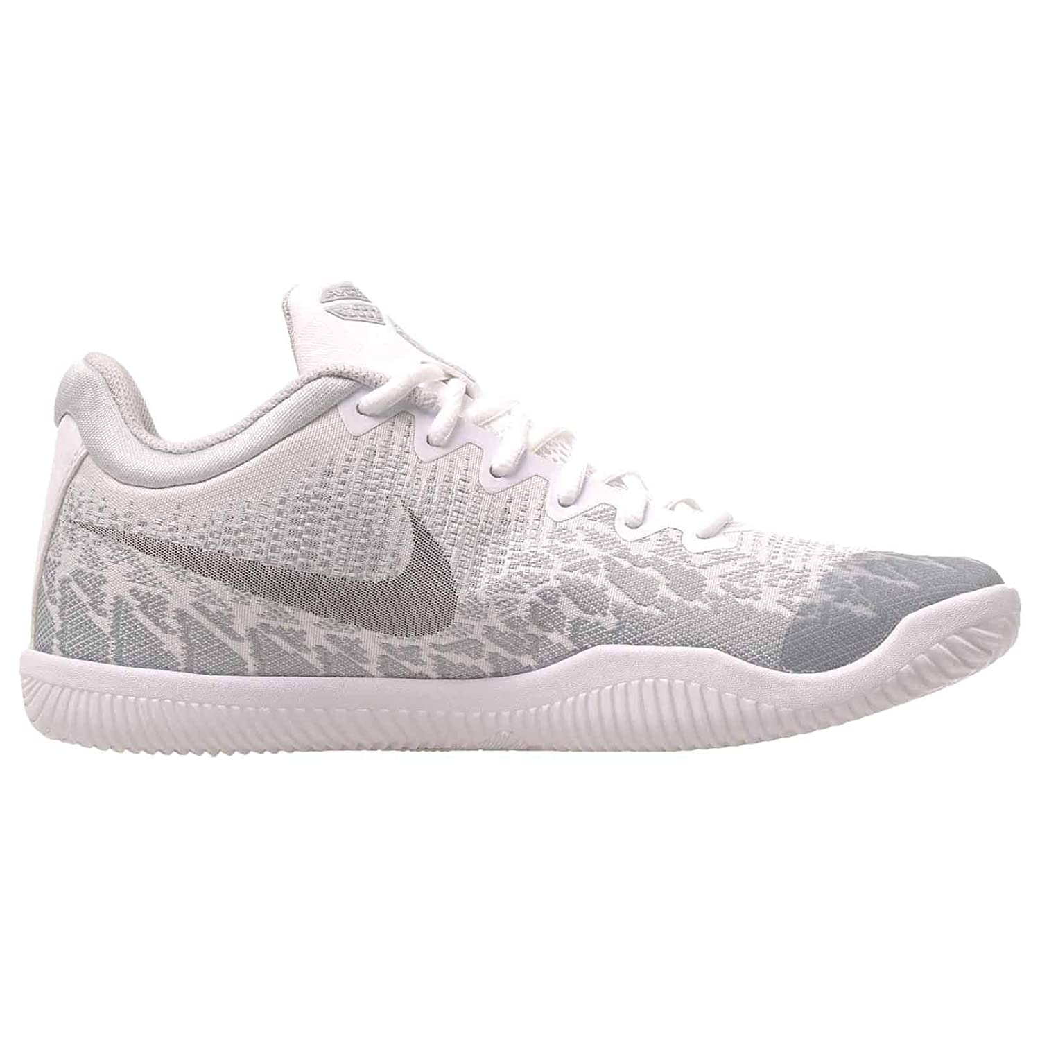 Nike Men s Kobe Mamba Rage Basketball Shoes, White Black Pure Platinum – 11.5