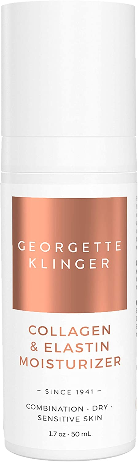 Georgette Klinger Collagen & Elastin Face Moisturizer with Hyaluronic Acid and Olive Oil to Hydrate and Tone, Reduce The Appearance of fine Lines and Wrinkles While Locking in Moisture