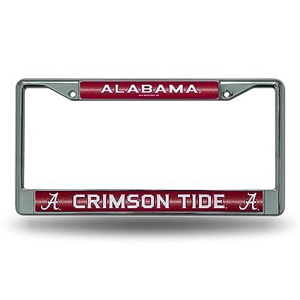 Amazon.com : Rico NCAA Alabama Crimson Tide Bling Chrome License ...