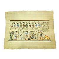 Horus Artesanía de Egipto Papiro egiziano originale fatto e dipinto a mano in Egitto di circa 33 x 43 cm, papiro del giudizio finale, P2HR11