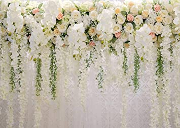 White 3d Rose Floral Photo Backdrops Bridal Shower Large Wedding Flowers Wall Background For Photography Dessert Table Decoration Blush Vinyl