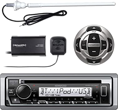 Kenwood KMR-D368BT CD//MP3 Marine Stereo Receiver with Bluetooth
