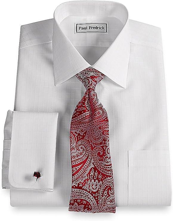 Paul Fredrick Hombre No Necesita Planchado propagación cuello camisa de puño francés